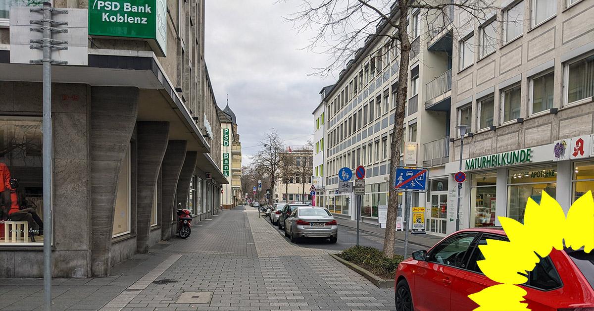 Auf Antrag der GRÜNEN: Casinostraße wird erste Koblenzer Fahrradstraße