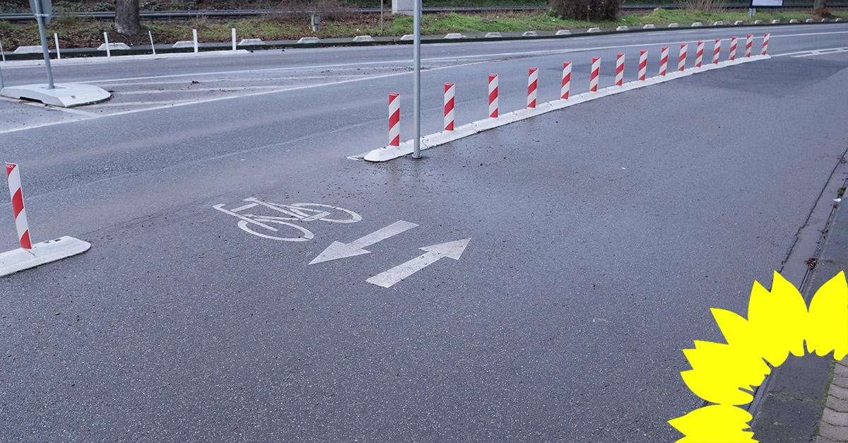 Auf Initiative der GRÜNEN Fraktion entstehen mehr Fahrradwege in Koblenz: Trierer und Mayener Straße erhalten Radschutzstreifen