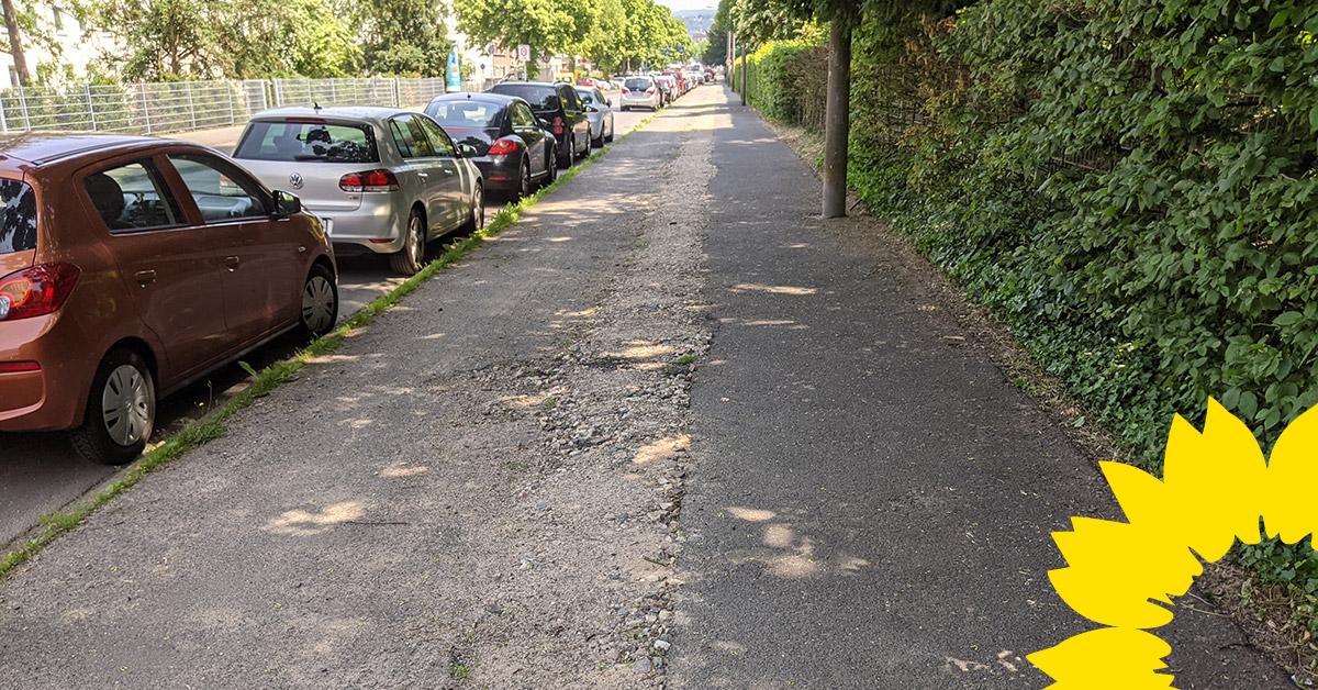 GRÜNE begrüßen Erneuerung der Fahrradwege in der Beatusstraße